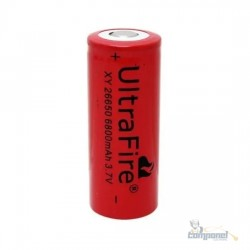Bateria Recarregável 26650 3,7v 6800mah Li-ion Lanterna X900
